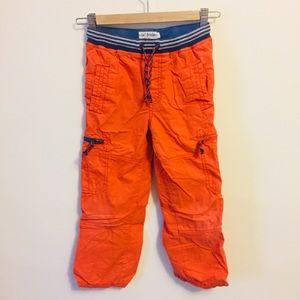 NWOT Mini Boden cargo pants orange
